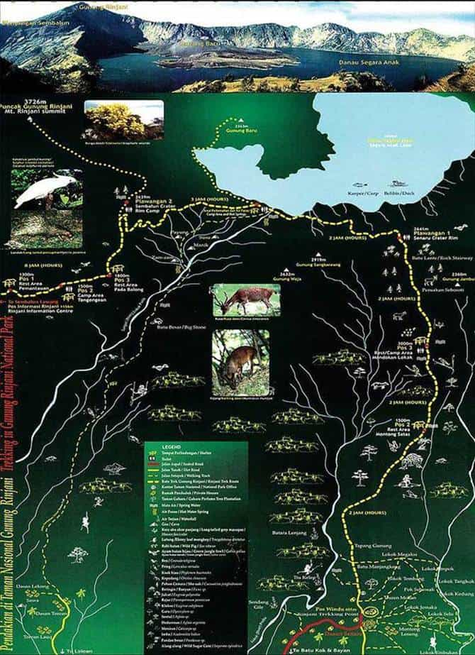 rinjani-trek-map